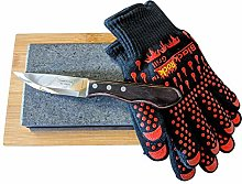Black Rock Grill Hot Stone Cooking Rock Gift Se