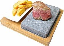 Black Rock Grill Lava Stone Grill Steak Set, Hot