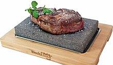 Black Rock Grill Lava Stone Steak Cooking Rock