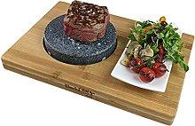 Black Rock Grill Round Ishiyaki Steak on a Stone