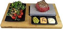 Black Rock Grill Sizzling Stone Grill, Hot Steak