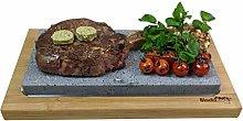 Black Rock Grill Steak Lava Stone Sharing Set