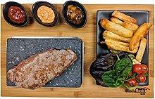 Black Rock Grill Steak on a Stone Grill Set,