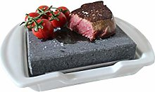 Black Rock Grill Steak on the Stone and Plate Set,