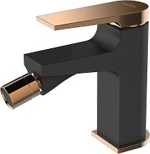 Black/Rose Gold Brass Bathroom Bidet Faucet Mixer