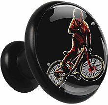 Black Round Cabinet Knobs Cool Motorcycle Handles