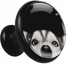 Black Round Cabinet Knobs Husky Handles and Knobs