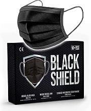BLACK SHIELD - 50 Black Medical Face Masks 3 Ply