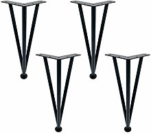Black/Silver Adjustable Hairpin Legs,Stainless