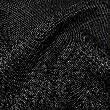 BLACK SOFT PLAIN LINEN LOOK HOME ESSENTIAL