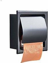 Black Stainless Steel Toilet Paper Holder,