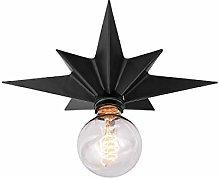 Black Star Ceiling Light Fitting Flush Mount