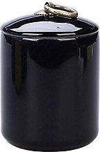 Black Temptation [A] Ceramic Tea Canister Portable