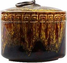 Black Temptation Ceramic Tea Canister Portable