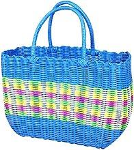 Black Temptation Colorful Woven Shopping Basket
