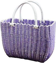 Black Temptation Colorful Woven Shopping Basket