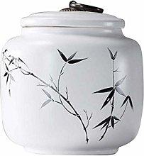 Black Temptation Tea Caddy Ceramic Large Storage