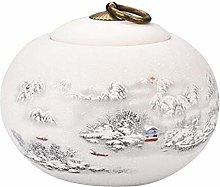 Black Temptation Tea Cans Ceramic Sealed Caddy