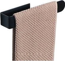 Black towel rack, door towels stainless steel
