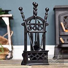 Black Victorian Style Companion Set - 41cm