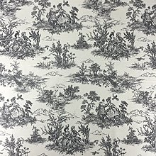 Black Vintage French Lovers Scenes Toile de Jouy