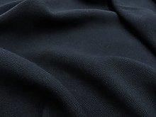 Black Viscose Fabric by The Metre Lightweight