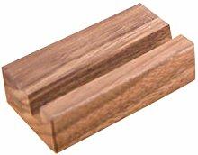 Black Walnut Beech Wood Business Card Holder