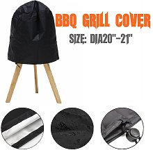 Black Waterproof BBQ Grill Cover Durable Outdoor