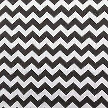 Black / White - 1 Meter | 6mm CHEVRON Printed