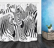 Black White Abstract Zebra Shower Curtain Liner