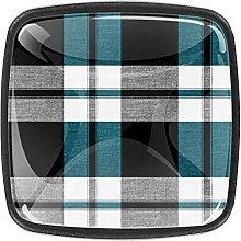 Black White Grey Blue Plaid Crystal Drawer Cabinet