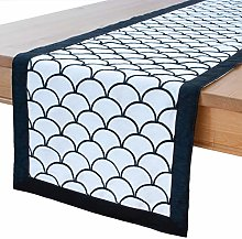 Black White Kitchen Table Runners (Embroidered