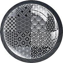 Black White Knobs for Dresser Drawers Decorative