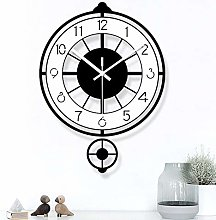 Black White Pendulum Wall Clock,for Modern
