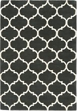 Black & White Rug with Pattern - 120x170cm