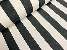 Black & White Striped DRALON Outdoor Fabric