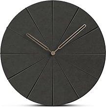 Black Wood Wall Clock Simple Modern Nordic Silent