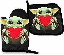 BLACKbiubiubiu Star Wars Yoda Oven Mitts And Pot