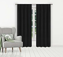Blackout 365 blackout curtains for bedroom, Black,
