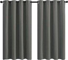 Blackout Curtain 2 Panels Soft Darkening Thermal