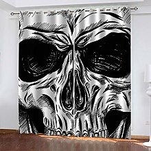 Blackout Curtain Abstract skull art Total
