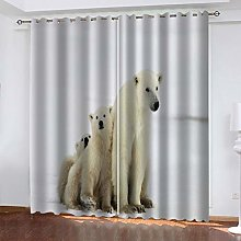 Blackout Curtain Animal polar bear Total