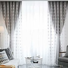 Blackout Curtain Beige,with White Sheer Tulle