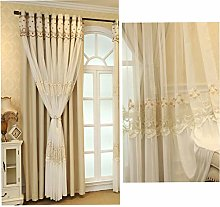 Blackout Curtain Double Layer for Living Room Girl