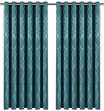 Blackout Curtain - Embossed Teal Curtains For