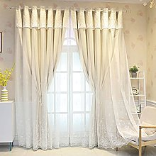 Blackout Curtain Gray,with Sheer Tulle