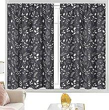 blackout curtain rod pocket Black and