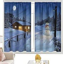 blackout curtain rod pocket Christmas,Rustic Wood