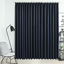 Blackout Curtain with Hooks Anthracite 290x245