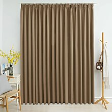 Blackout Curtain with Hooks Taupe 290x245 cm -